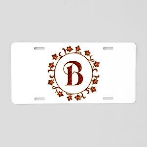 Letter B Monogram Aluminum License Plate