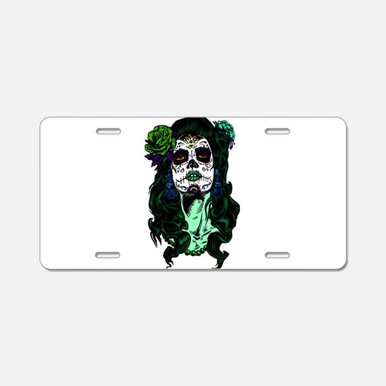 Best Seller Sugar Skull Aluminum License Plate