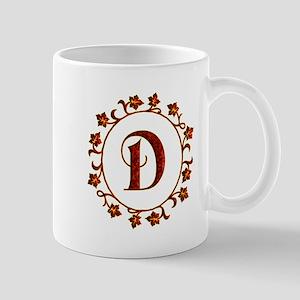 Letter D Monogram Mug