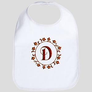 Letter D Monogram Bib