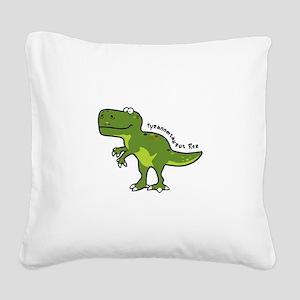 Tyrannesaurus Square Canvas Pillow