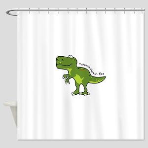 Tyrannesaurus Shower Curtain