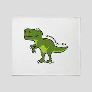 Tyrannesaurus Throw Blanket