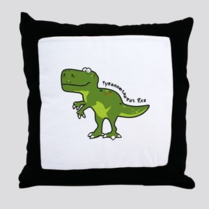Tyrannesaurus Throw Pillow