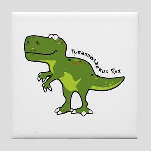 Tyrannesaurus Tile Coaster