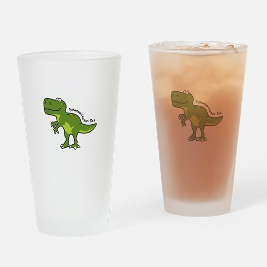 Tyrannesaurus Drinking Glass