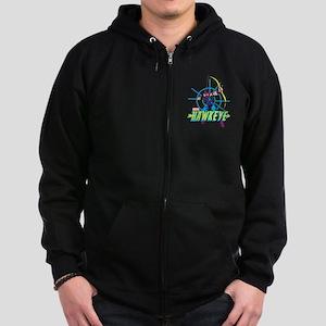 Hawkeye Design Zip Hoodie (dark)