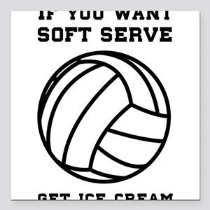 "Soft serve get ice cream Square Car Magnet 3"" x 3"""