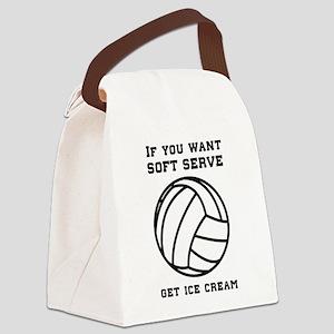 Soft serve get ice cream Canvas Lunch Bag