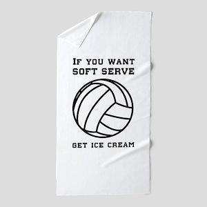 Soft serve get ice cream Beach Towel