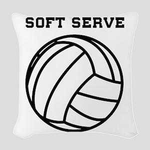Soft serve get ice cream Woven Throw Pillow