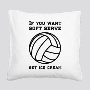 Soft serve get ice cream Square Canvas Pillow