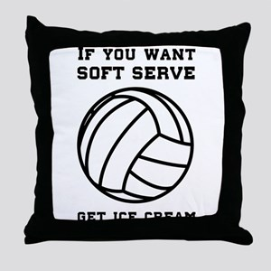 Soft serve get ice cream Throw Pillow