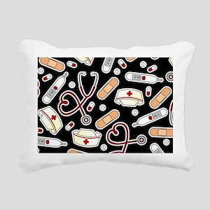 Cute Nurse Love Pattern  Rectangular Canvas Pillow