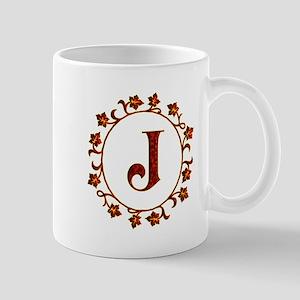 Letter J Monogram Mug