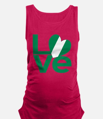 Cute Heart shaped australian flag Maternity Tank Top