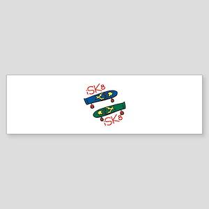 I SK8 Bumper Sticker