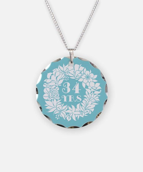 34th Anniversary Wreath Necklace
