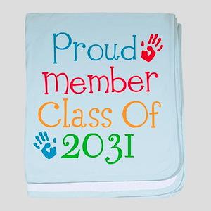 Class of 2031 baby blanket