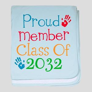 Class Of 2032 pride baby blanket