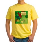 Cat and Angry Birds Yellow T-Shirt