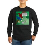Cat and Angry Birds Long Sleeve Dark T-Shirt