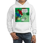 Cat and Angry Birds Hooded Sweatshirt