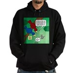 Cat and Angry Birds Hoodie (dark)