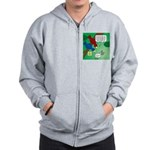 Cat and Angry Birds Zip Hoodie