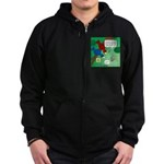 Cat and Angry Birds Zip Hoodie (dark)