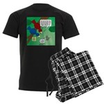 Cat and Angry Birds Men's Dark Pajamas
