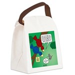 Cat and Angry Birds Canvas Lunch Bag