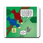Cat and Angry Birds Mousepad