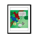 Cat and Angry Birds Framed Panel Print