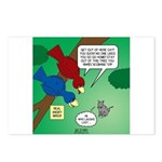 Cat and Angry Birds Postcards (Package of 8)