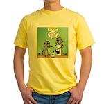 Raccoon Coffee Yellow T-Shirt