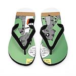 Raccoon Coffee Flip Flops