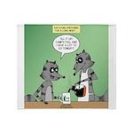 Raccoon Coffee Throw Blanket