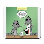 Raccoon Coffee Mousepad