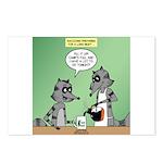 Raccoon Coffee Postcards (Package of 8)