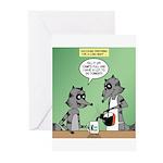 Raccoon Coffee Greeting Cards (Pk of 20)