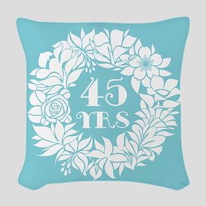 45th Anniversary Wreath Woven Throw Pillow
