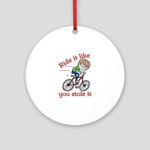 Ride It Ornament (Round)