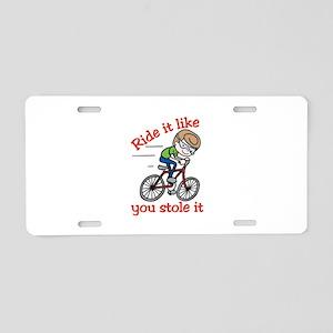 Ride It Aluminum License Plate