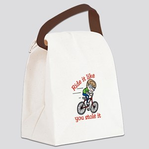 Ride It Canvas Lunch Bag