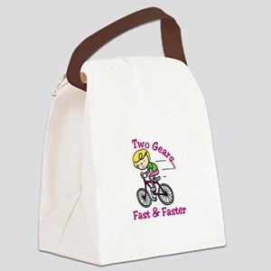 Bicycle Gears Canvas Lunch Bag