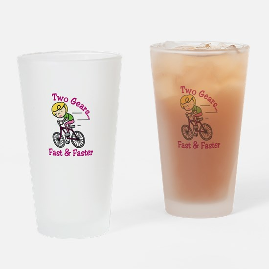 Bicycle Gears Drinking Glass