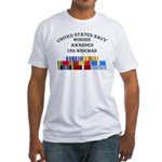 USS Wiseman Fitted T-Shirt