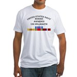 USS Willmarth Fitted T-Shirt
