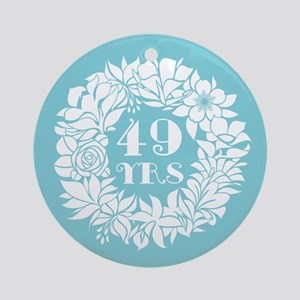 49th Anniversary Wreath Ornament (Round)